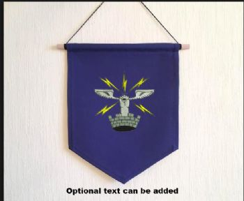 Embroidered Pennant with 26 AES